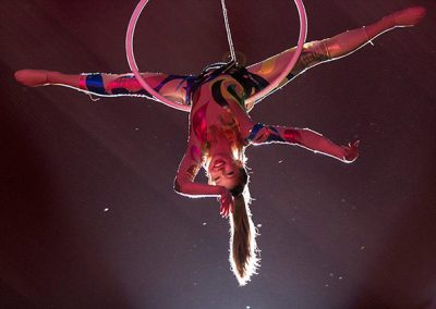 Upside-down aerialist smiles for the camera ©JMillar Tilt Creative performance photography