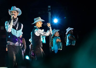 singer in the Calgary Stampede grandstand show | photo © Joni Millar