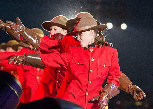 Dancers as Mounties at Calgary Stampede ©JMillar Tilt Creative performance photography