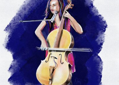 cellist illustration