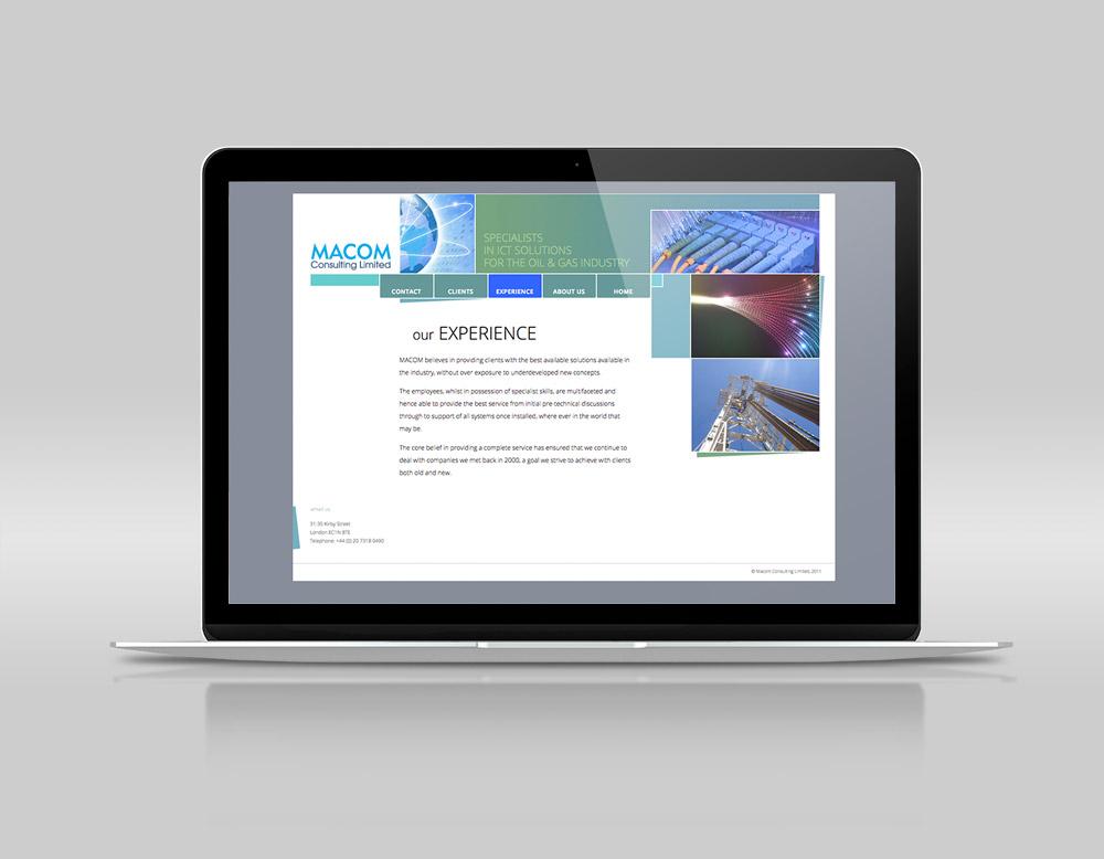 Macom Consulting website