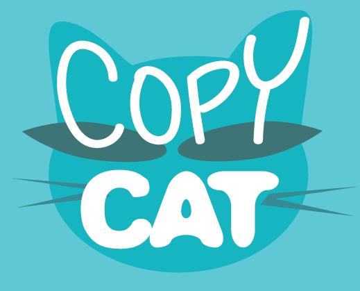 Copy cat graphic represents Tilt & Tweak content creation, copyediting and strategic design services in Calgary