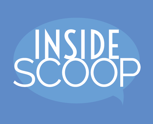 Inside scoop graphic represents magazine, publication and annual report design.