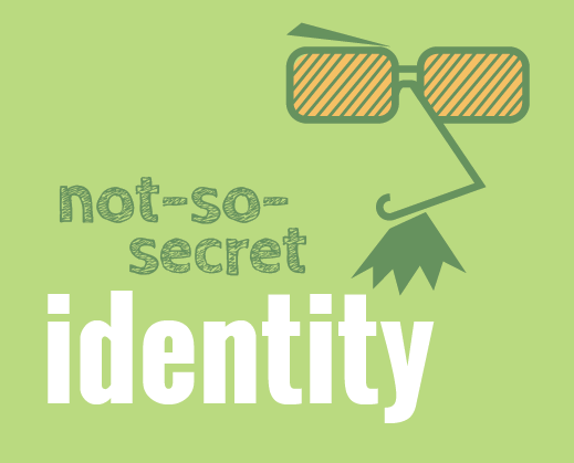 Not-so-secret identity 'spy' graphic represents branding and visual identity design services