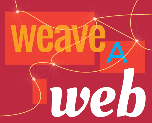 Weave a web graphic represents strategy and website creation