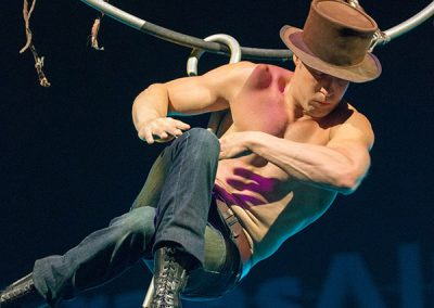 Timber Brown Calgary Stampede highwire ©JMillar Tilt Creative performance photography