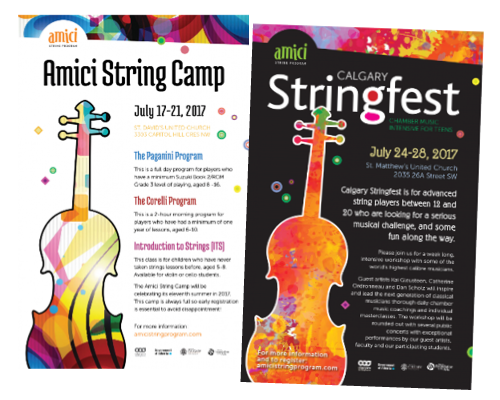 Amici string camp posters