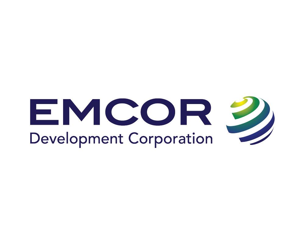 Emcor logo designed by Tilt Creative in Calgary Alberta visual identity branding and graphic design