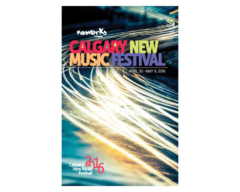 Calgary New Music Festival program