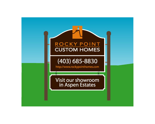 sign for Rocky Point Custom Homes