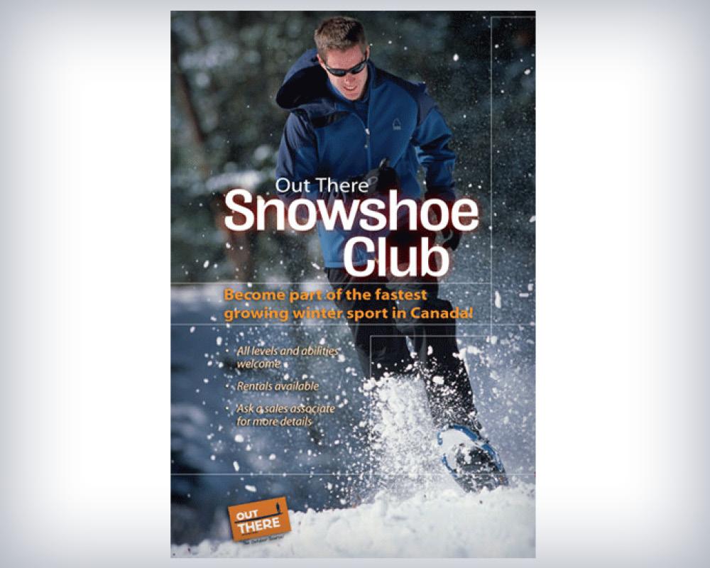 Snowshoe club poster