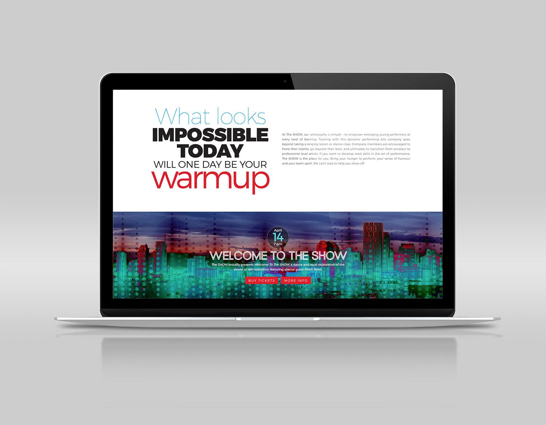 The SHOW website by Tilt & Tweak